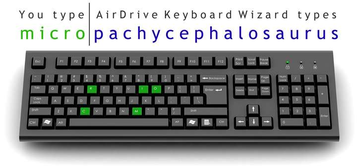 AirDrive Keyboard Wizard Aluminum