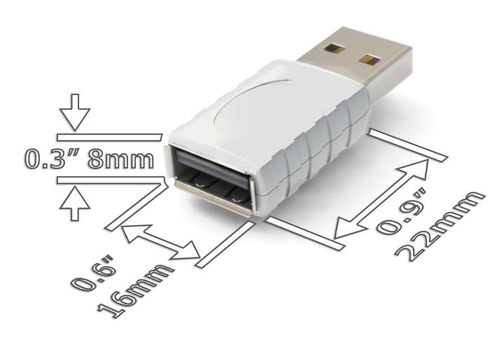 AirDrive Forensic Keylogger Mac Pro White